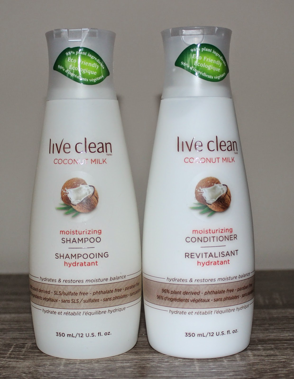 Live Clean Coconut Milk Moisturizing Shampoo and Conditioner