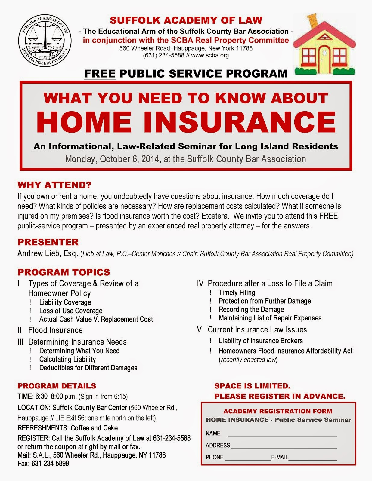 Free Home Owner Insurance Seminar