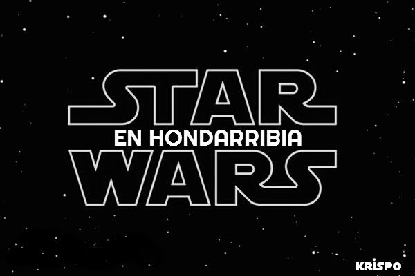 Cartel en blanco y negro de Star Wars en Hondarribia