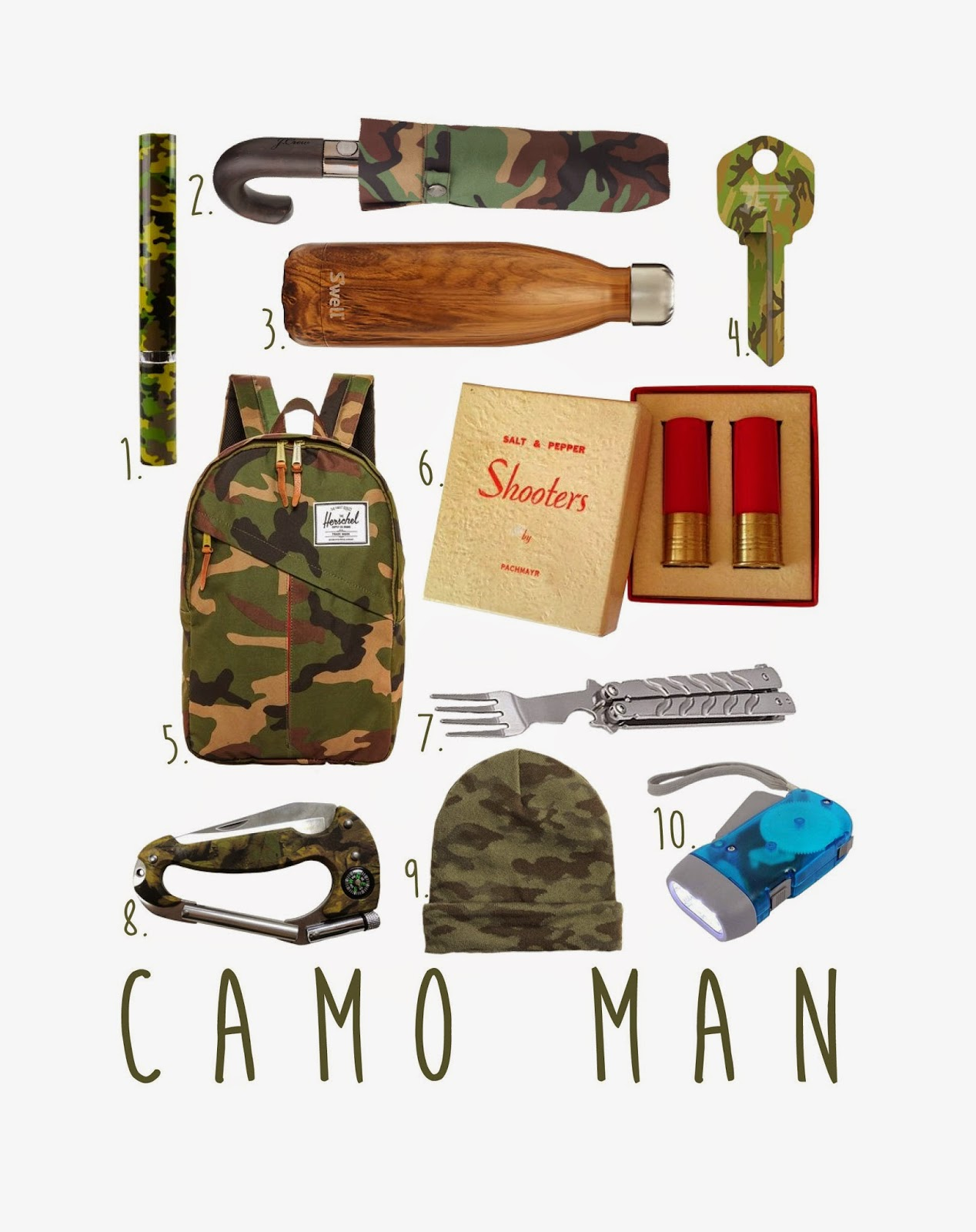 mens-gift-guide, holiday-gift-guide, camouflage, came-gift-guide