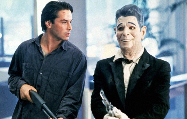 Johnny Utah und Ronald Reagan aka Bodhi in POINT BREAK. Quelle: Warner Bros Blu-ray