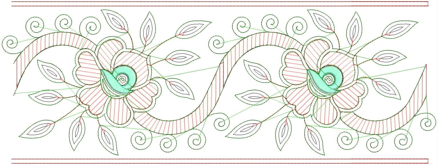 Embdesigntube Embroidery Designs For Sarees Border 2012