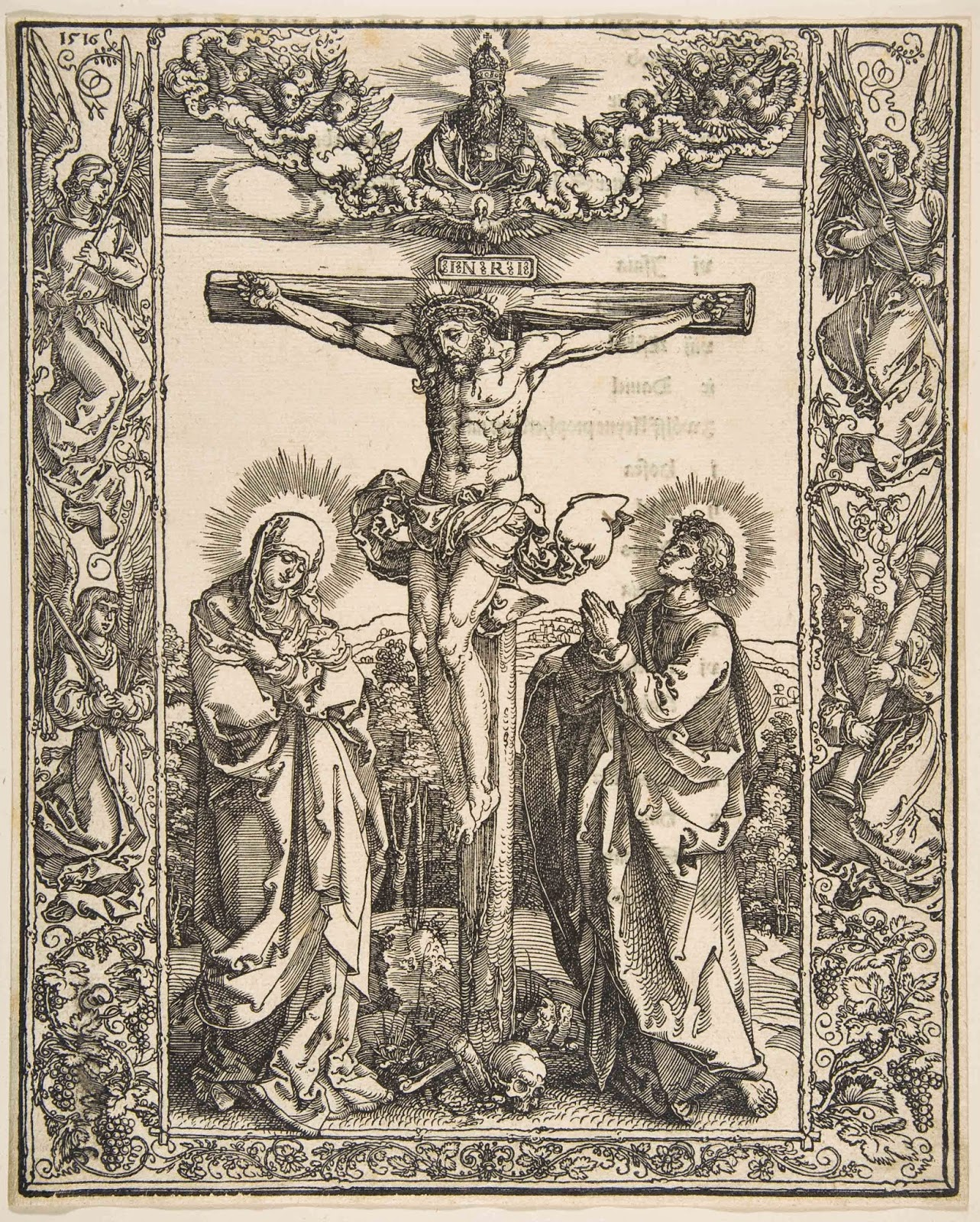 Art artists albrecht drer part 7 1516 christ on the cross between the virgin and st john woodcut 277 x 222 cm metropolitan museum of art new york buycottarizona