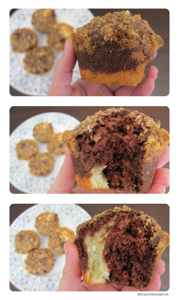 Marble Streusel Muffins