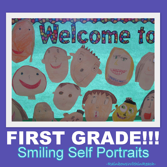 photo of: Welcome to School Bulletin Board, First Grade Bulletin Board