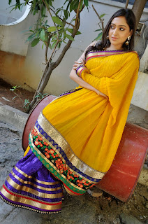 Anjana New Actress from movie Nenu Naa in Orange Saree