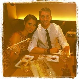 El madridista Sergio Ramos y Pilar Rubio, cenando sushi la noche de la derrota de Madrid