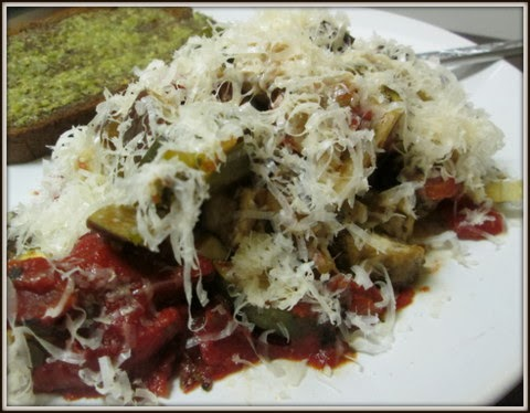 Sprinkle Parmesan or Romano cheese on top