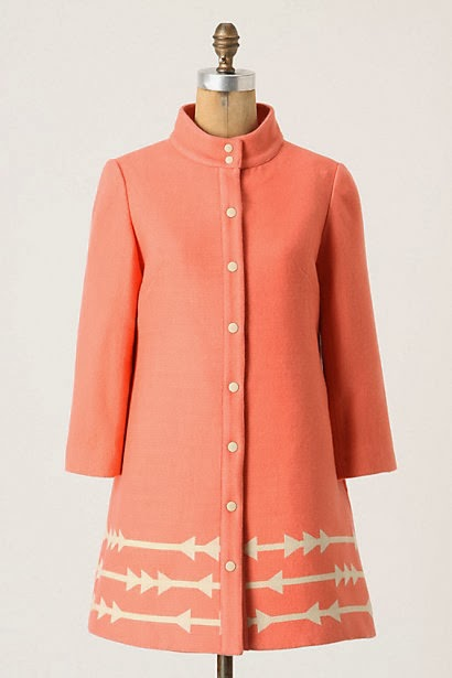 Eastward, Eastward Dress Coat, Lauren Moffatt, pink coat, winter coat, embroidered coat, designer coat, Anthropologie