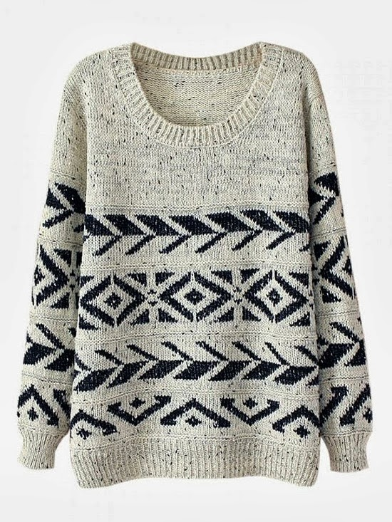Casual round neck warm sweater