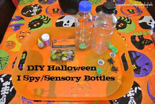 Halloween I spy/sensory bottles