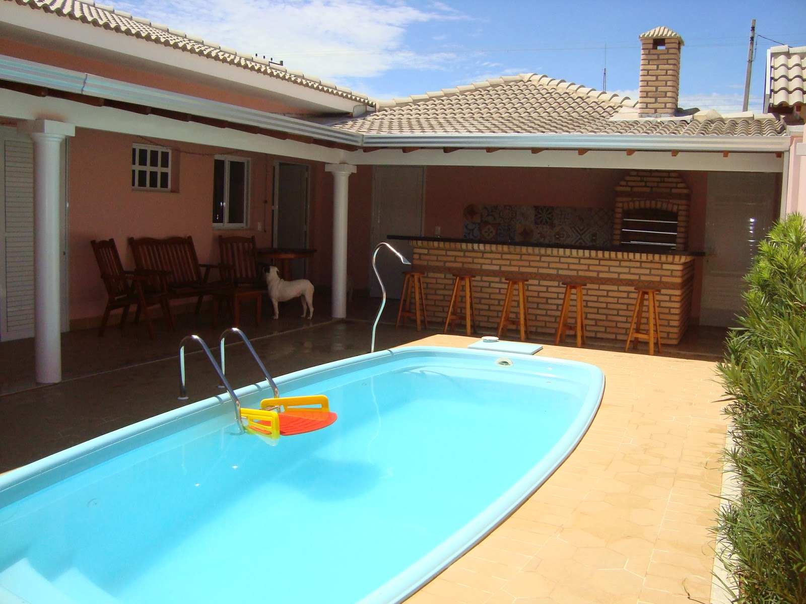 A casa da mi churrasqueira e rea de lazer for De k piscina