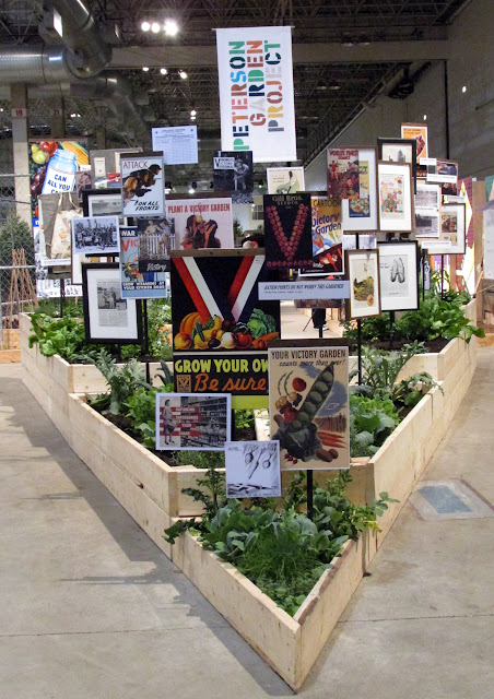 Victory Garden posters and plants