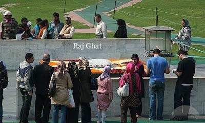 Raj Ghat, the memorial of Mahatma Gandhi