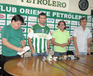 Oriente Petrolero - Dorian Montero, Ronald García, Luis Ernesto Álvarez, Carlos Aragonés - DaleOoo.com - página del Club Oriente Petrolero