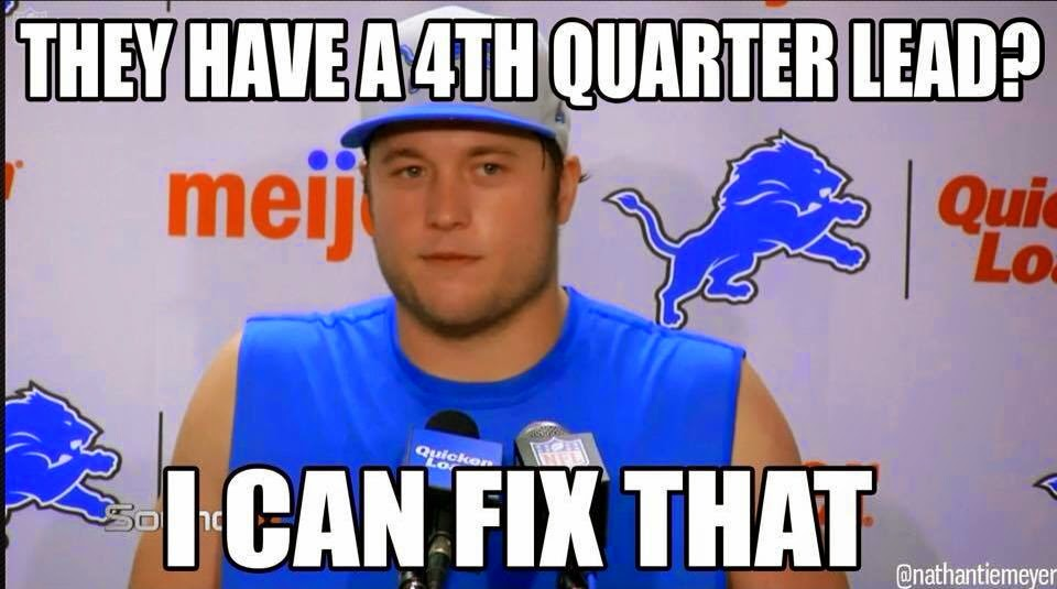 they have a 4th quarter lead? I can fix that
