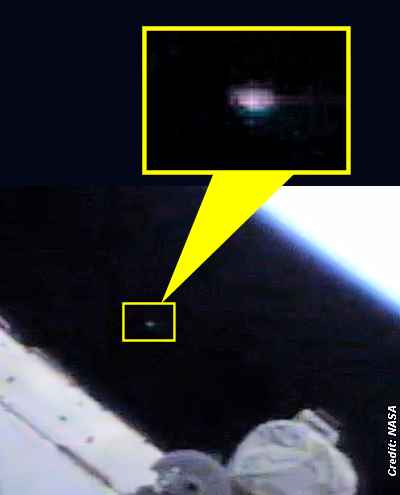 UFO Caught At Space Station On Live Cam  8-4-14