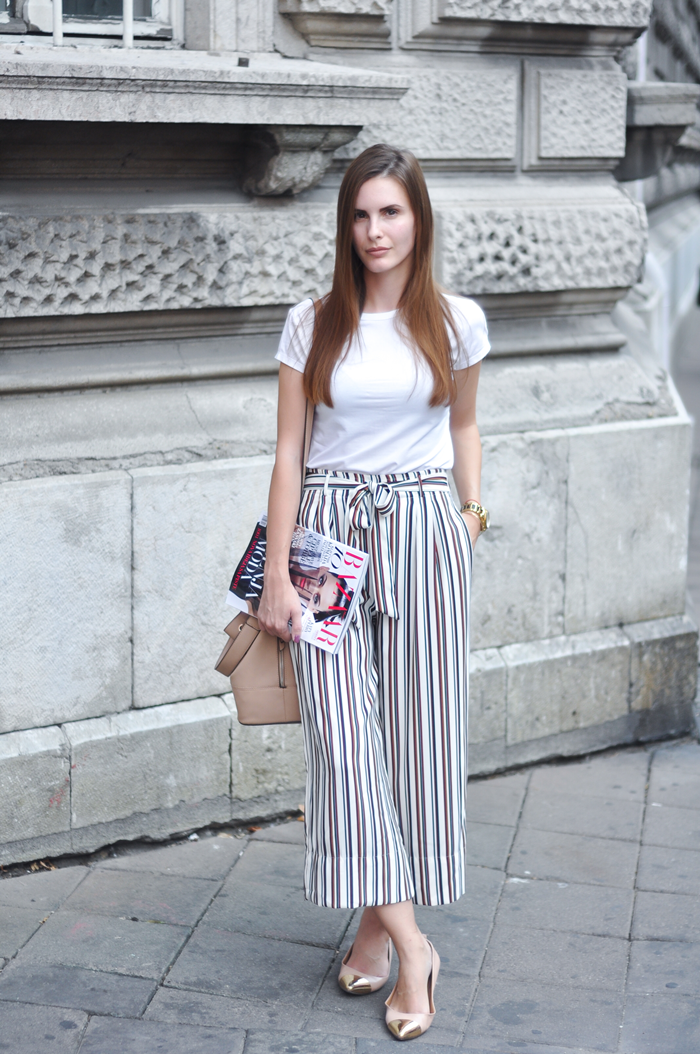 aleksandra skorupan, velvet and milk blog, street style, culottes, harpers bazaar