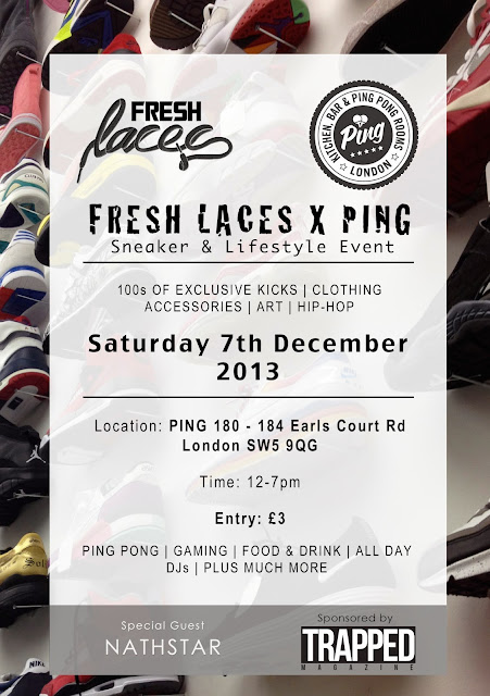fresh laces, we are ping, sneaker event, sneakers, sneakerheads, london events