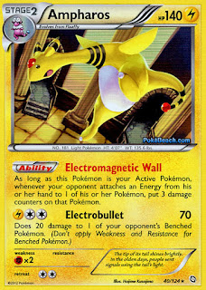 Ampharos Dragons Exalted Pokemon Card