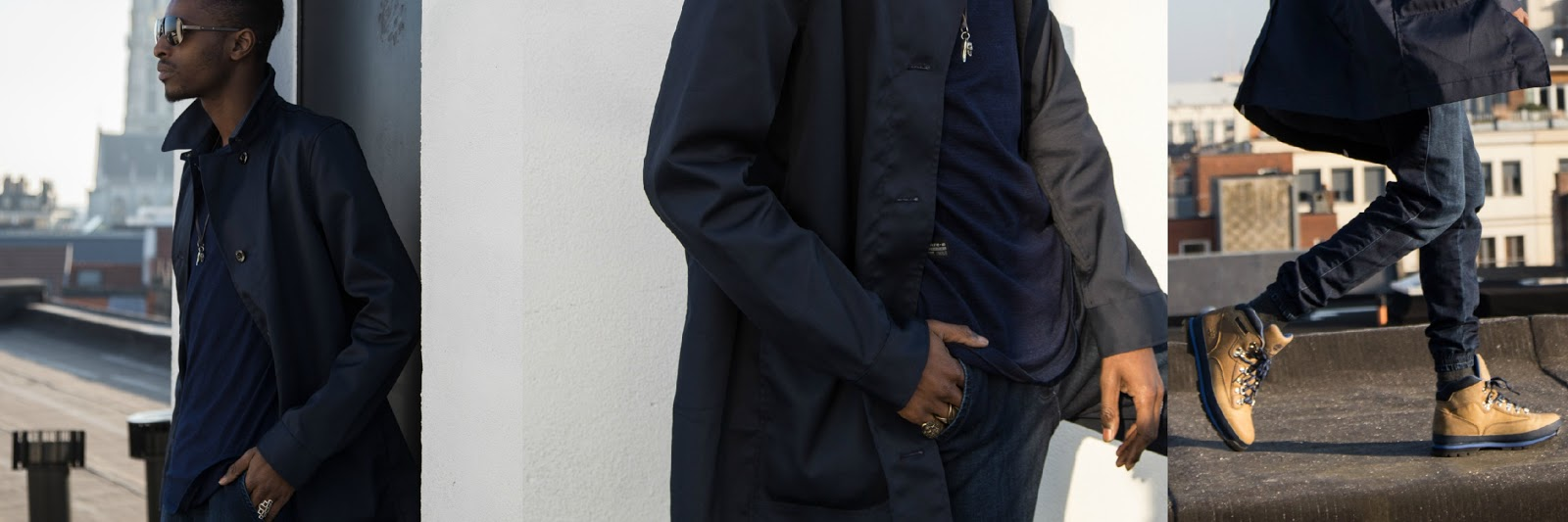 JONTHEGOLD rooftop blue g-star raw coat wefashion jogger  timberland boots salvatore ferragamo sunglasses bohemian vixen accessories