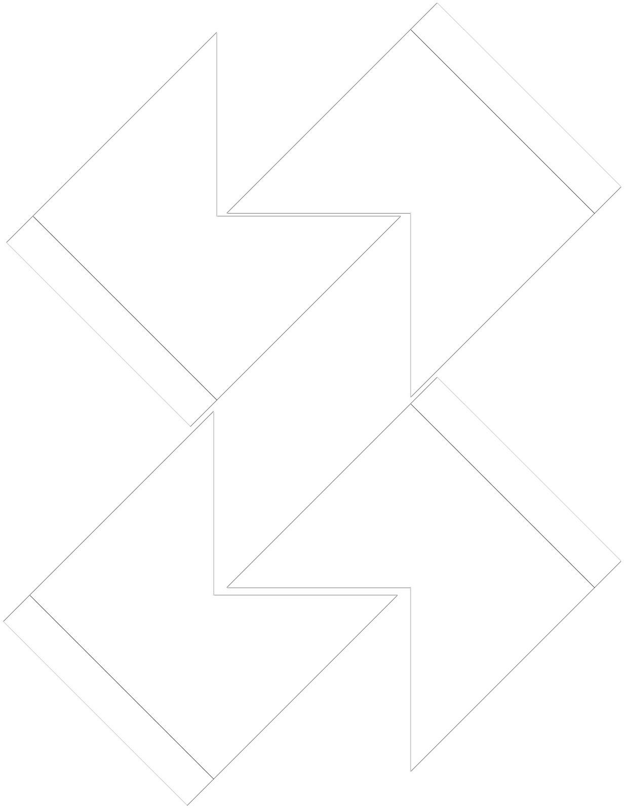 Corner bookmark template