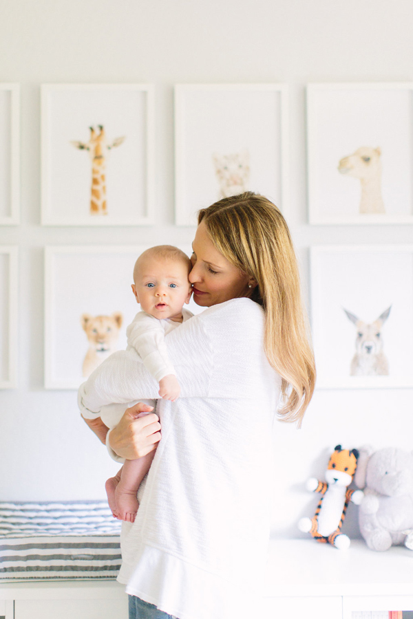 Animal-themed nursery with prints from The Animal Print Shop