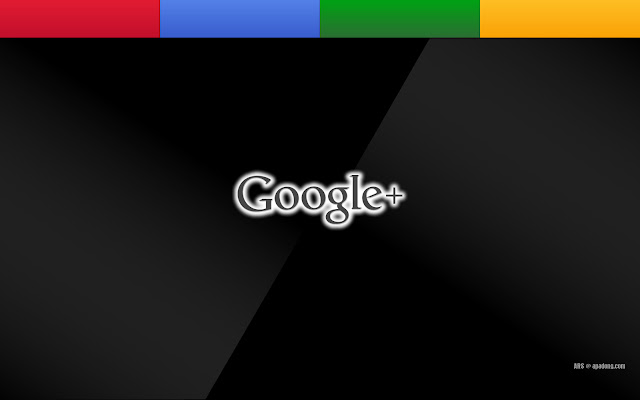 Google+ Wallpaper: Black Glass 1280x800