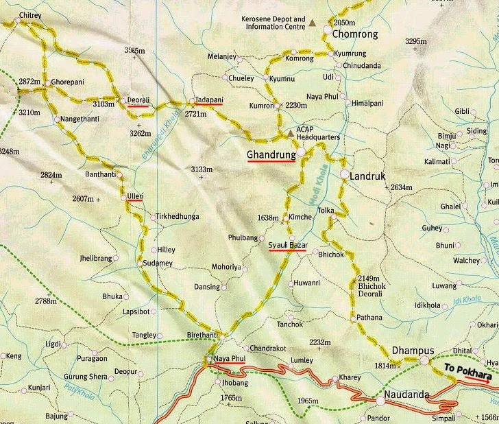 Trek route