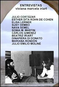 SONIA M.MARTIN en ENTREVISTAS: JULIO CORTÁZAR, ESTHER DITA KOHN DE COHEN, ELISA LERNER, SUSY DEMBO