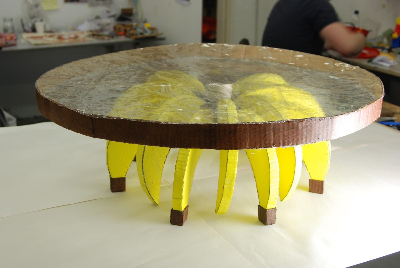 Banana On Table BANANA TABLE