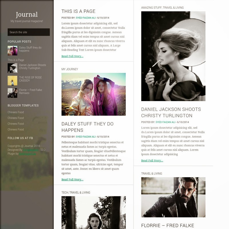 Journey Free Responsive Blogger Templates
