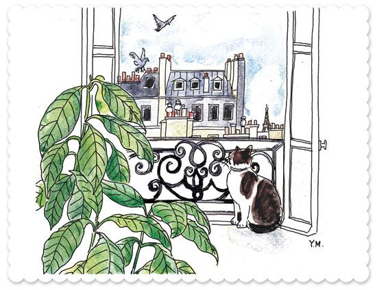 postcard from Paris by Yukié Matsushita
