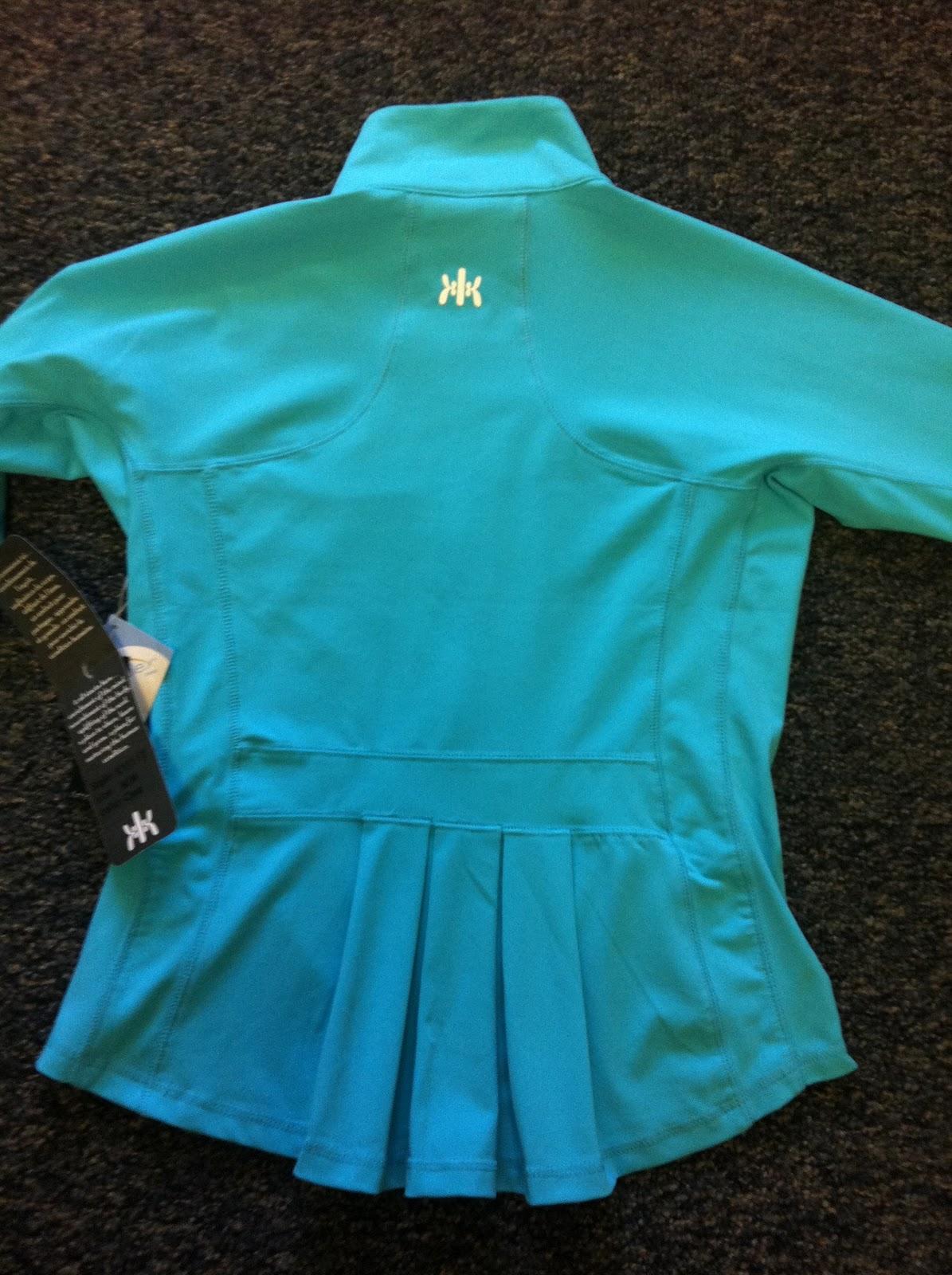 Style Athletics Teal Aqua Blue Kyodan Pleated JAcket