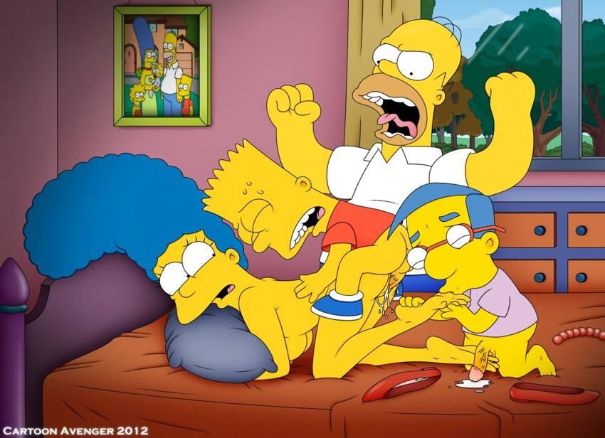 Порно фото симпсоны барт и мардж