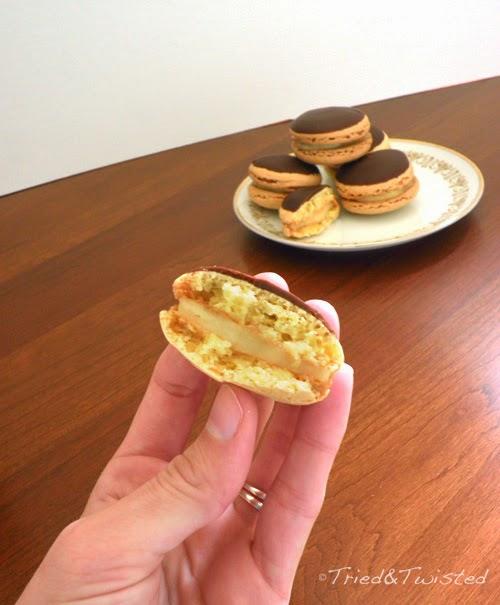 Yum Yum! Boston Cream Pie Macaron