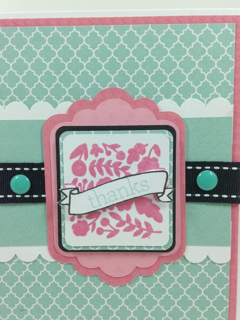 Cricut Artiste Simple Elegant card Closeup