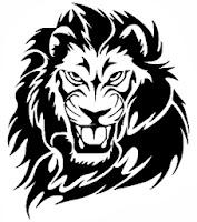oroszlán / vektoros pólóminta / RockPont