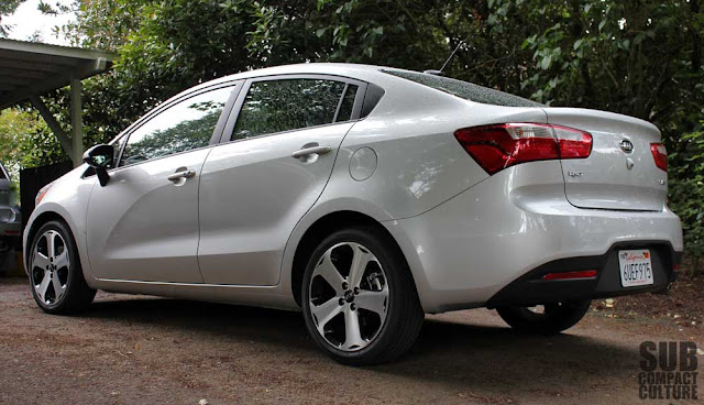 Kia Rio SX sedan review rear