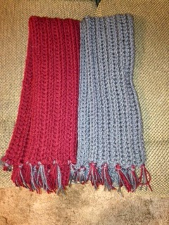 Family, Books and Crochet...Oh My!: Scarves
