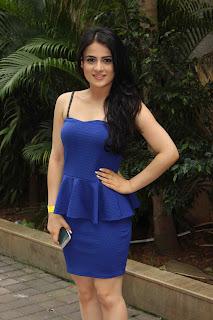 Radhika Madan ina  Sleeveless Shoulder Less Ultra Short Mini Tight Blue Dress amazing beauty