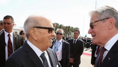 الرئيس الألماني يغادر تونس