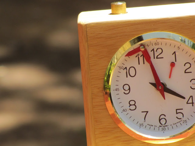 Jerger clock. Close up.
