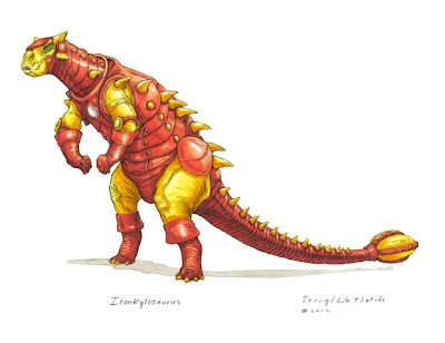 Dinosaurio Iron Man