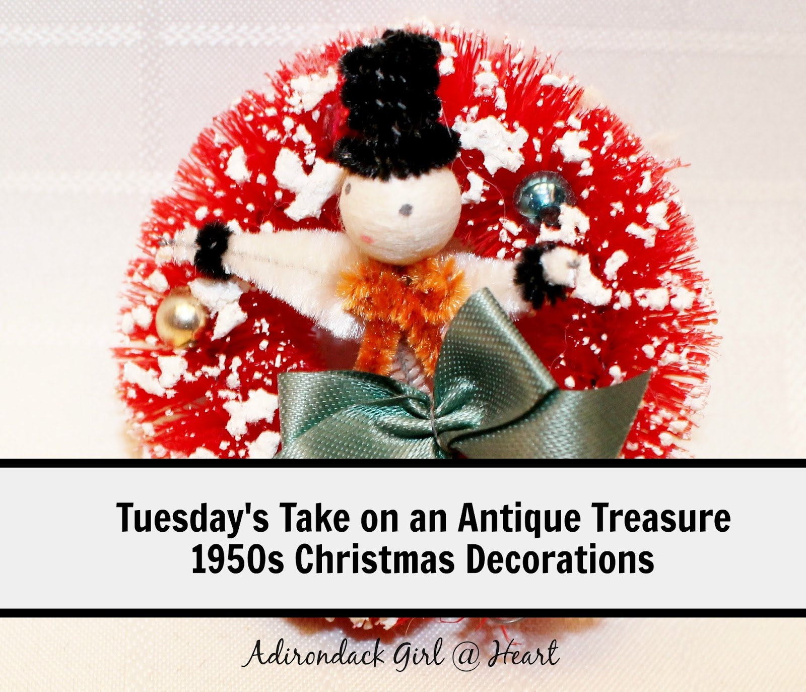 Vintage christmas decorations 1950s - Tuesday S Take On An Antique Treasure 1950s Christmas Decorations