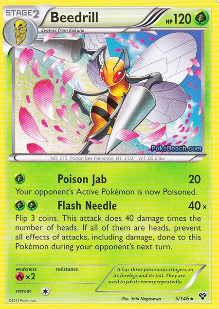 Beedrill -- Pokemon X and Y Card Review | Primetime ...