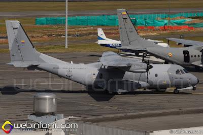 CASA C-235MPA Persuader de la Armada Nacional.