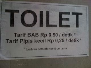 tulisan unik di wc umum