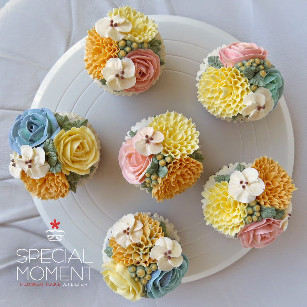 Special Moment Vanilla Chocolate Buttercream Flower Cupcake for Baby Sh