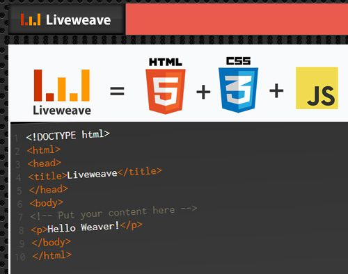 Liveweave, editor online HTML5 para...